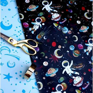 "Eleanor Bowmer Spaceman Print - Wrapping Paper Sheet - Single 28"" x 20"""