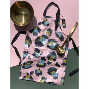 Eleanor Bowmer Children's Pink Leopard Print Oilcloth Wipe Clean Apron