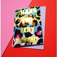 Eleanor Bowmer Thank You Very Much Leopard - Card