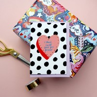 Eleanor Bowmer I Think I Will Love You Forever Card