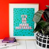 Eleanor Bowmer It's Ok To Make Mistakes Print A4