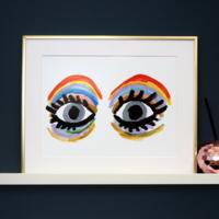 Eleanor Bowmer Rainbow Eyes Print A4