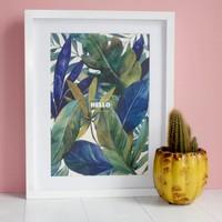 Eleanor Bowmer Tropical Print A4 / Hello