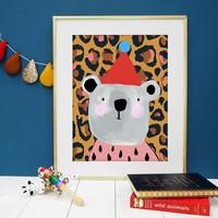 Eleanor Bowmer Leopard Print Bear Print A4