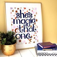 Eleanor Bowmer She's Magic Print A4