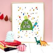 Eleanor Bowmer Be Kind Tortoise Print A4