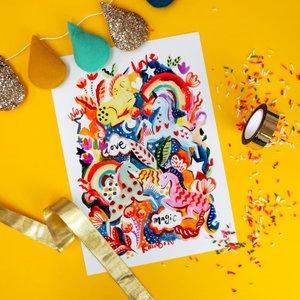 Eleanor Bowmer Magic Unicorn Print A3