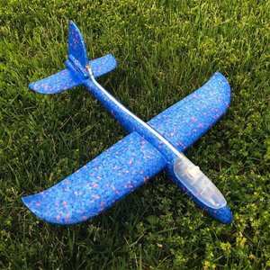 Spin Copter LED Sky Glider - BLUE