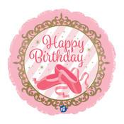 """burton + BURTON 17"""" Happy Birthday Twinkle Ballerina Shoes Balloon - 317440"""