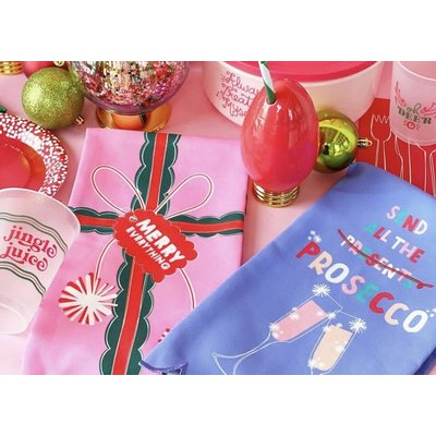 Packed Party Christmas Holiday Tea Towels