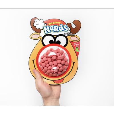 Redstone Foods Big Chewy Nerds - Reindeer Stocking Topper (Christmas)