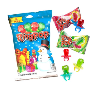 Redstone Foods Christmas Ring Pop - 4 count per bag