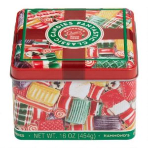 Redstone Foods Hammonds Christmas Old Fashioned Classic Square Gift Tin