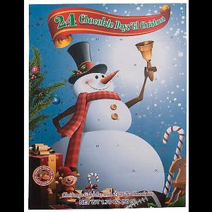Redstone Foods Snowman (Blue) - 24 Chocolate Days 'til Christmas - Advent Calendar with 24 Milk Chocolates
