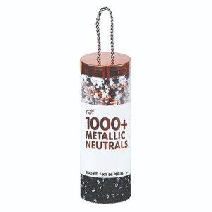 Fashion Angels Metallic Neutral Bead Kit TO GO - 1000+ Beads