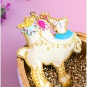 """One Hundred 80 Degrees CAMEL - Beaded Lala Ornament - Glass/Velvet, 3.5-5.25"""""""