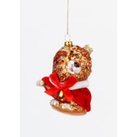 "Glitterville Wizard of Oz - COWARDLY LION - Glass Ornament (4.5"" - 6.75"")"