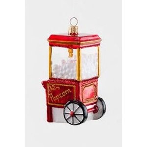 "Glitterville Popcorn Machine Ornament - Glass, 45""-5.5"""