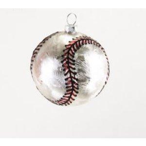 """One Hundred 80 Degrees BASEBALL - Sports Ball Ornament - Glass, 3.25"""" - 4.5"""""""