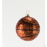 """Glitterville BASKETBALL - Sports Ball Ornament - Glass, 3.25"""" - 4.5"""""""