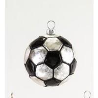 "Glitterville SOCCER - SportS Ball Ornament - Glass, 3.25"" - 4.5"""