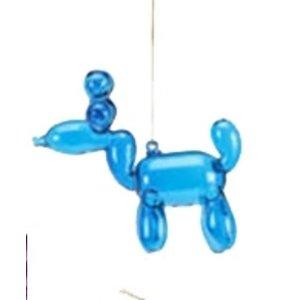 """One Hundred 80 Degrees BLUE - Reindeer Balloon Ornament - Glass, 3.5"""""""