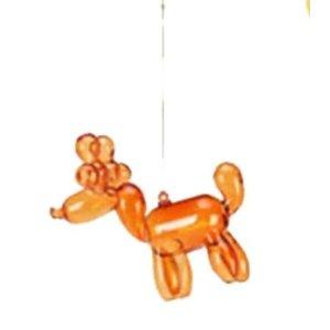 """One Hundred 80 Degrees ORANGE - Reindeer Balloon Ornament - Glass, 3.5"""""""