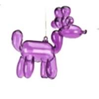 "Glitterville PURPLE - Reindeer Balloon Ornament - Glass, 3.5"""