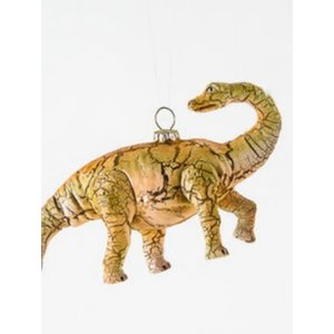 "Glitterville BRACHIOSAURUS (long neck) - Dinosaur Ornament -  Glass, 6""-7"""
