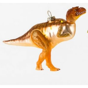 "Glitterville GOLD T-REX - Dinosaur Ornament -  Glass, 6""-7"""
