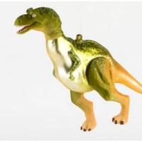 """One Hundred 80 Degrees GREEN T-REX - Dinosaur Ornament -  Glass, 6""""-7"""""""