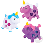 """The Toy Network Squeezy Bead Unicorn Ball - 3.25"""""""