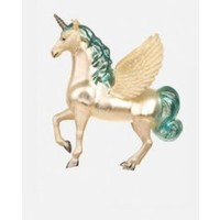 Glitterville Unicorn/Alacorn/Pegasus Glass Ornament - Blue