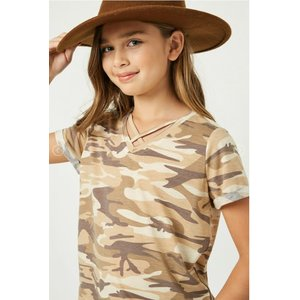 Hayden Camo Cross V-Neck T-Shirt (GJ3294)