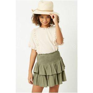 Hayden Tiered Ruffle Mini Skirt