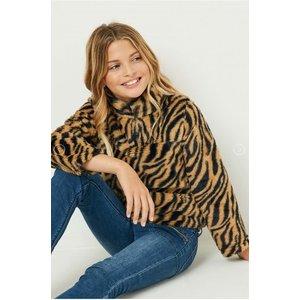 Hayden Zip-Up Tiger Fleece Pullover (GJ3188)