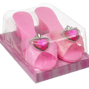 Almar Pink with Hearts - Dress Up High Heel Shoes for Princess Costumes
