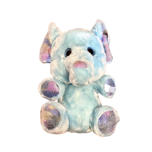 "Zoofy 14"" Elephant - Blue with Colorful Feet/Ears/Trunk - Plush Stuffed Animal - Looky Boo's"