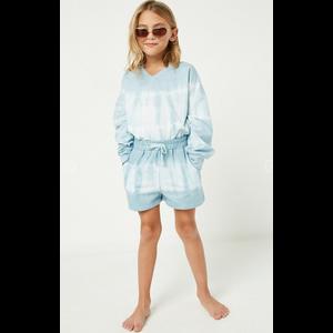 Hayden Blue Garment Dyed Drawstring Shorts