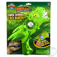 "The Toy Network 11.5"" Super Spinner T-Rex Blaster - Light Up and Sound Activated"