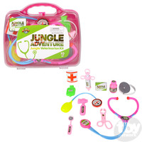 The Toy Network Pink Jungle Veterinarian Kit - 10 Piece Set