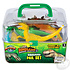 The Toy Network Dinosaur Pail Set - 20 Pieces in Clear Storage Carry Case