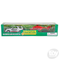 The Toy Network Dinosaur 4x4 with Trailer and helicopter
