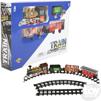 The Toy Network Train Adventure (4 Car Deluxe Battery Operated Train Set)