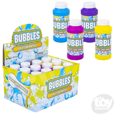 The Toy Network 4 oz Bubble Bottle (assorted colors)