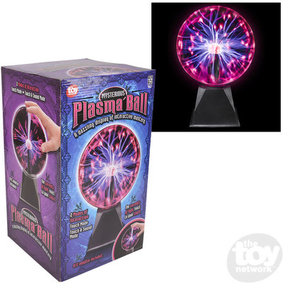 """The Toy Network 8"""" Red Plasma Ball"""