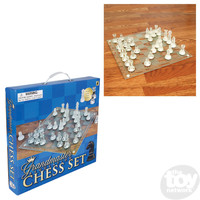 "The Toy Network 14"" Grandmaster Regulation Glass Chess Set"