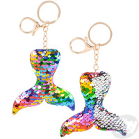 "The Toy Network Flip Sequin Mermaid Tail Keychain (3.5"")"