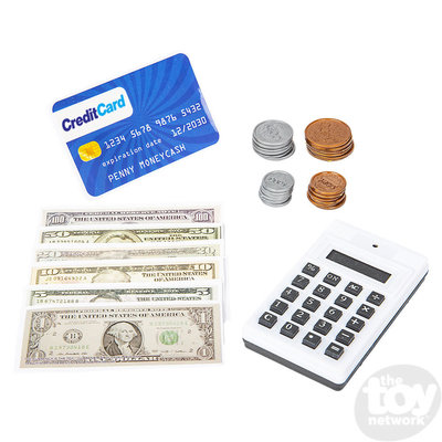 "The Toy Network Play Money Set with Play Calculator and Credit Card - 10""x12.5"""