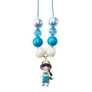 Fiveloaves Twofish Princess Charm Necklace - Jasmine